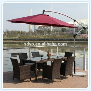 custom angle garden umbrella outdoor hanging square roma large parasol with good quality