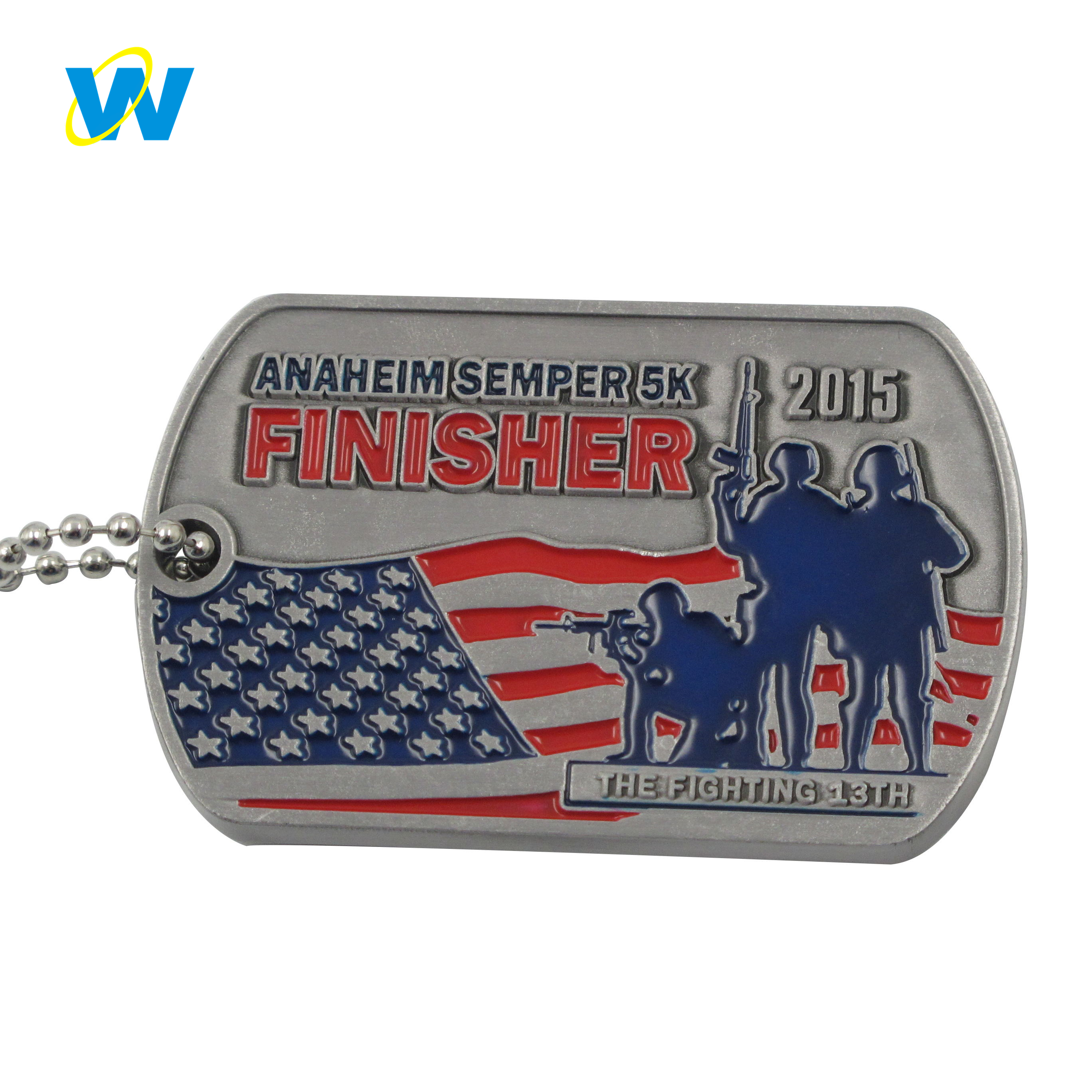 Personalized us army dog tags