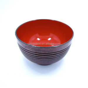 handmade custom making OEM cheap wood lacquer bowl