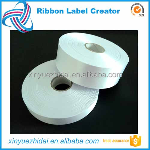 huzhou factory directly supply,garment blank label roll,fabric ribbon