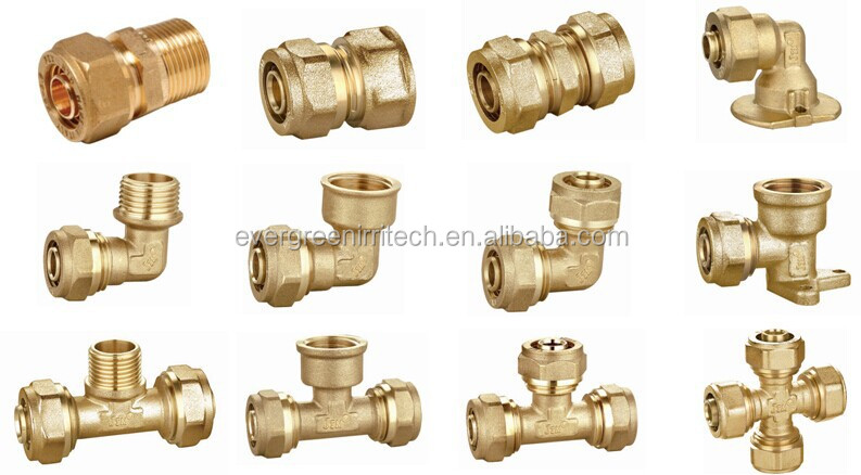 Brass compression fittings for pex al pipes buy pap