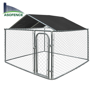 3*3*1.8m size big size pet cage/chain link style iron fence dog kennel