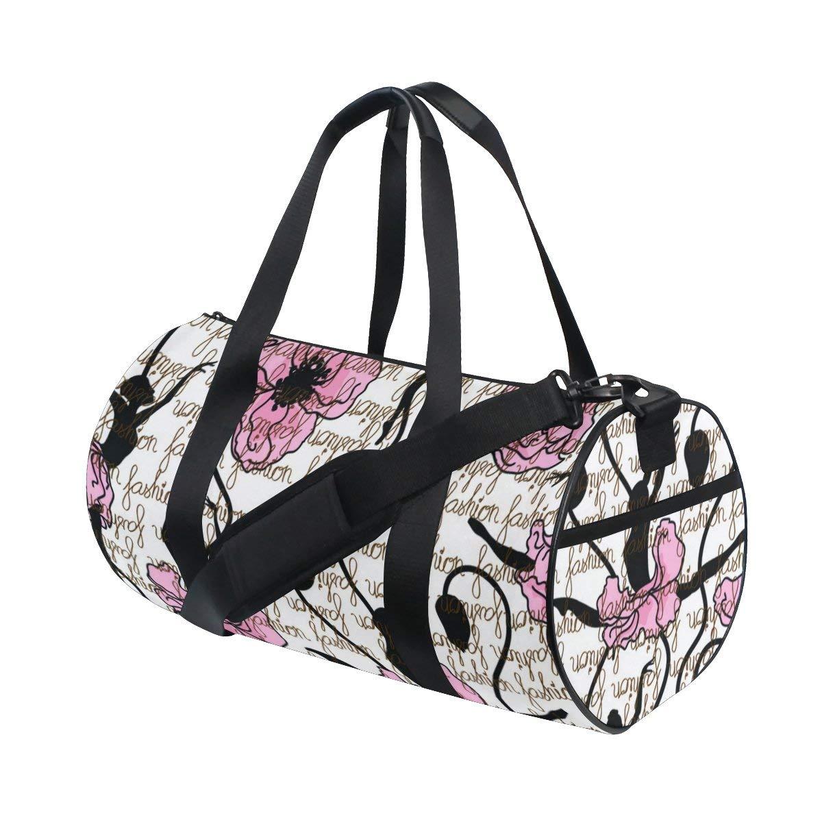 Naanle Fashion Style Ballerina Dancing Ballet Dancer Girl Gym bag Sports  Travel Duffle Bags for Men 268172be6ac31