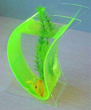 Table top moon bubble acrylic betta fish aquarium bowl for Bubbles in betta fish tank