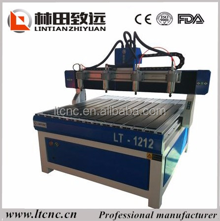 Discount price! 1200x1200mm cnc router for ads/engraving cutting machine cnc router with 3/4 spindles heads