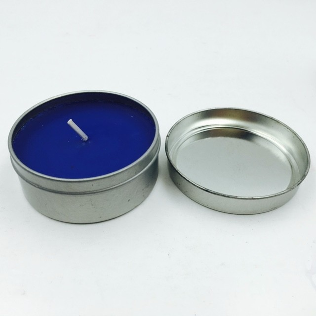 Classic Home Decorative Small Size Blue Color Scented Candle With Tin Can -  Buy Can Candles,Scented Candle,Scented Can Candle Product on Alibaba com
