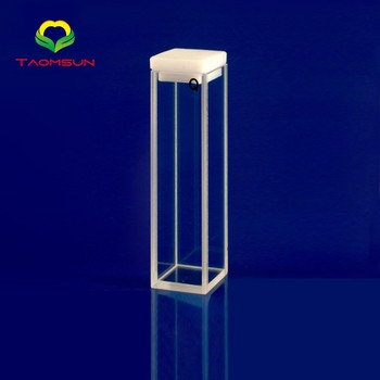 Chinese Supplier Glass fluorometer cell with telflon stopper standard cell with lid
