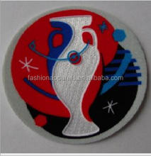 China Supplier Custom High Quality 3D Soccer Flocking Patches And Embroidery Patches For Clothing