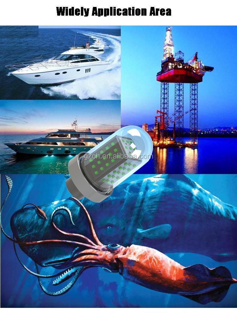 12v 24vdc,Ac 10w-600w Submersible Underwater Green Led Fishing ...