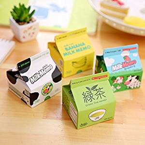 Katoot@ Korean stationery Creative Milk case memo pads Portable coffee sticky notes Post it Message paper gift office school supplies