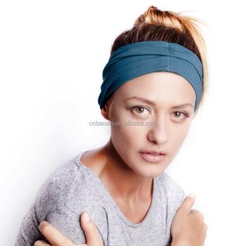 Elastic Fabric Bohemian Turban Headband Head Wraps Yoga Hair Band Running  Hidroschesis Headband a22c6ab532d