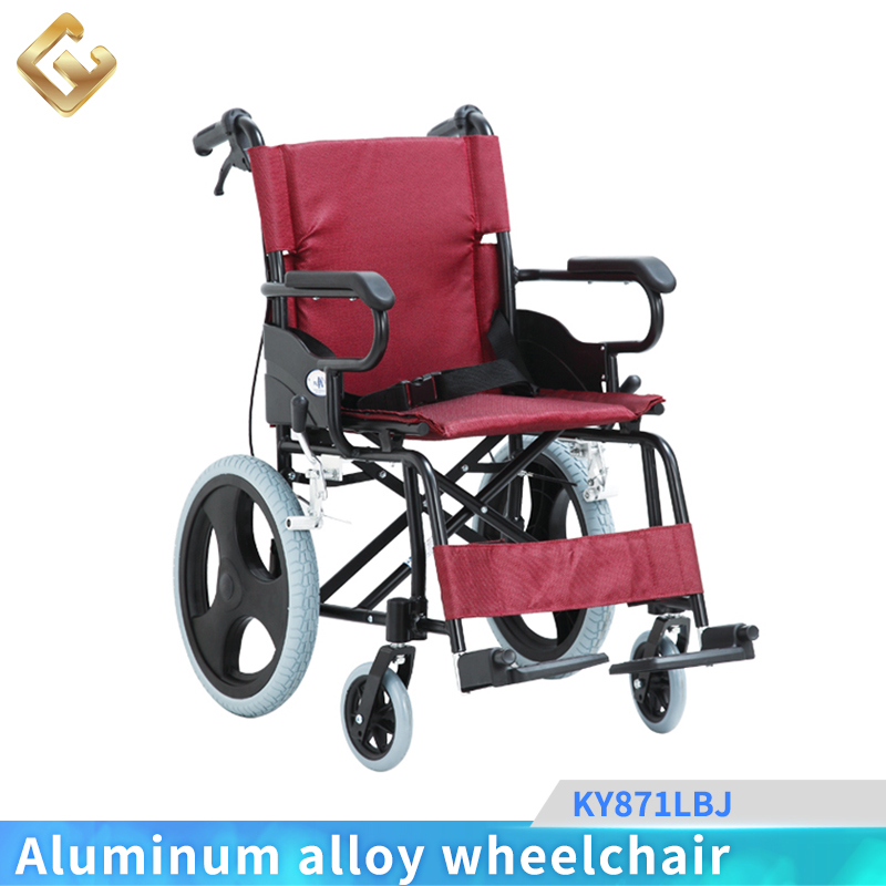 Mag wheel lightweight travel folding wheelchair for sale