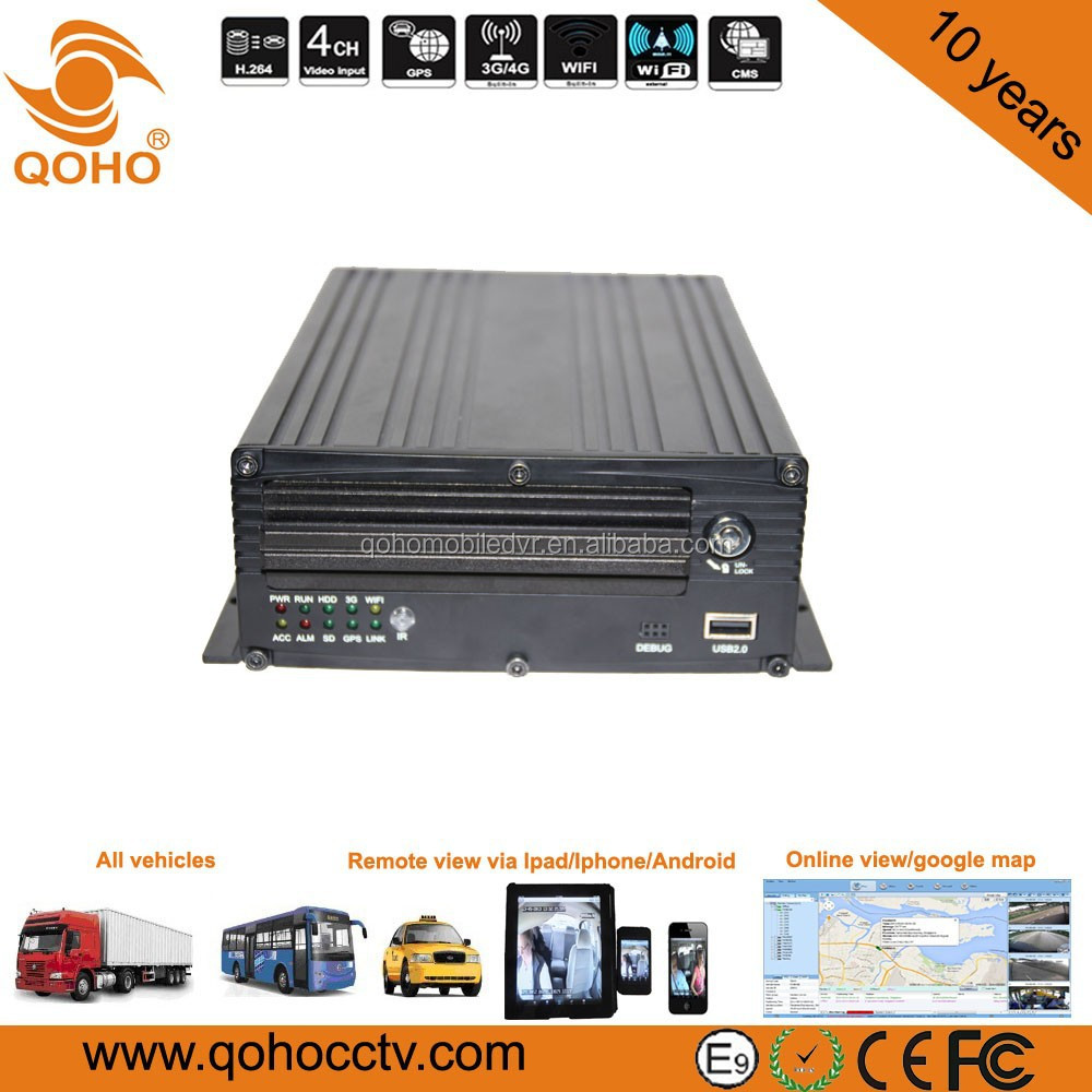 720P Mobile NVR ,GPS,3G, WIFI, 8-channel MNVR