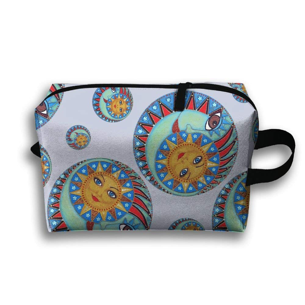LEISISI Sun And Moon Genuine Real Leather Passport Holder Cover Travel Case