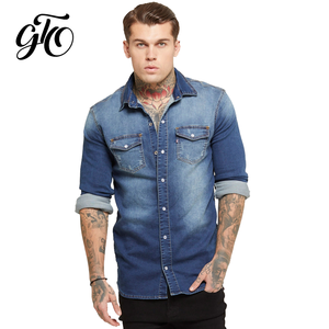 jackette for men male denim jean shirt Top quality new style cowboy men's jean cotton jacket coat 2019 chaqueta