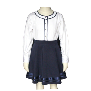 High Quality Customized Girl Dresses Kids Primary School Uniforms Garments Skirt Manufacturer