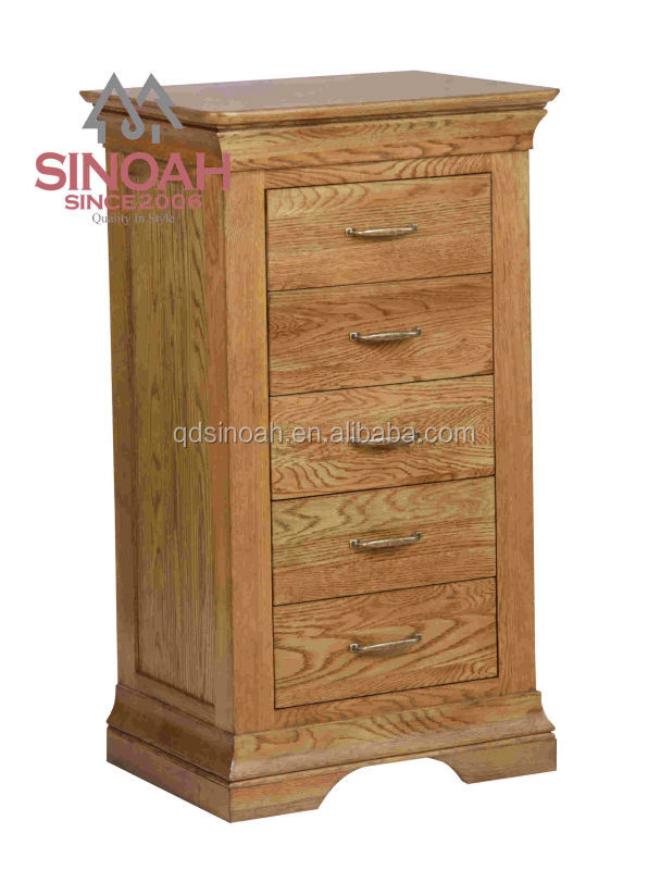 5 Drawer oak chest/Tallboy/ wooden furniture in stock