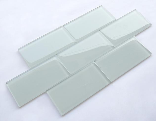 Cina fabbrica diretta bianco subway piastrelle di vetro vetro