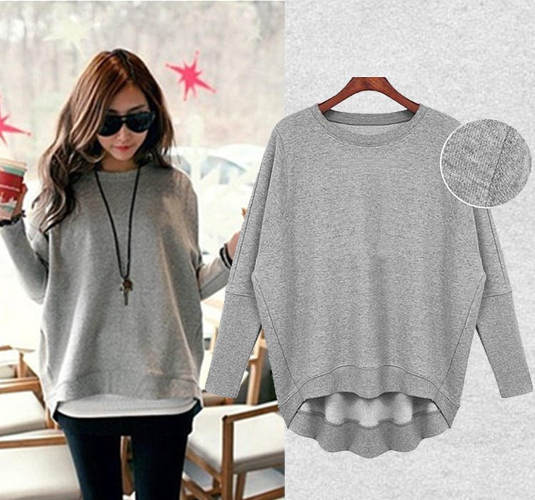 Oversized Womens Sweatshirts Fashion Ql