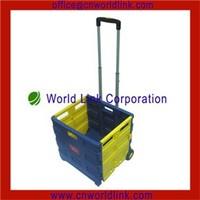 Heavy Duty Rolling Plastic Luggage Cart