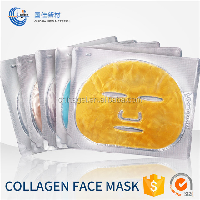 China Nieuwe Private Label Cosmetische Natuurlijke Product 24 K Gold Crystal Collageen Facial Sheet Masker