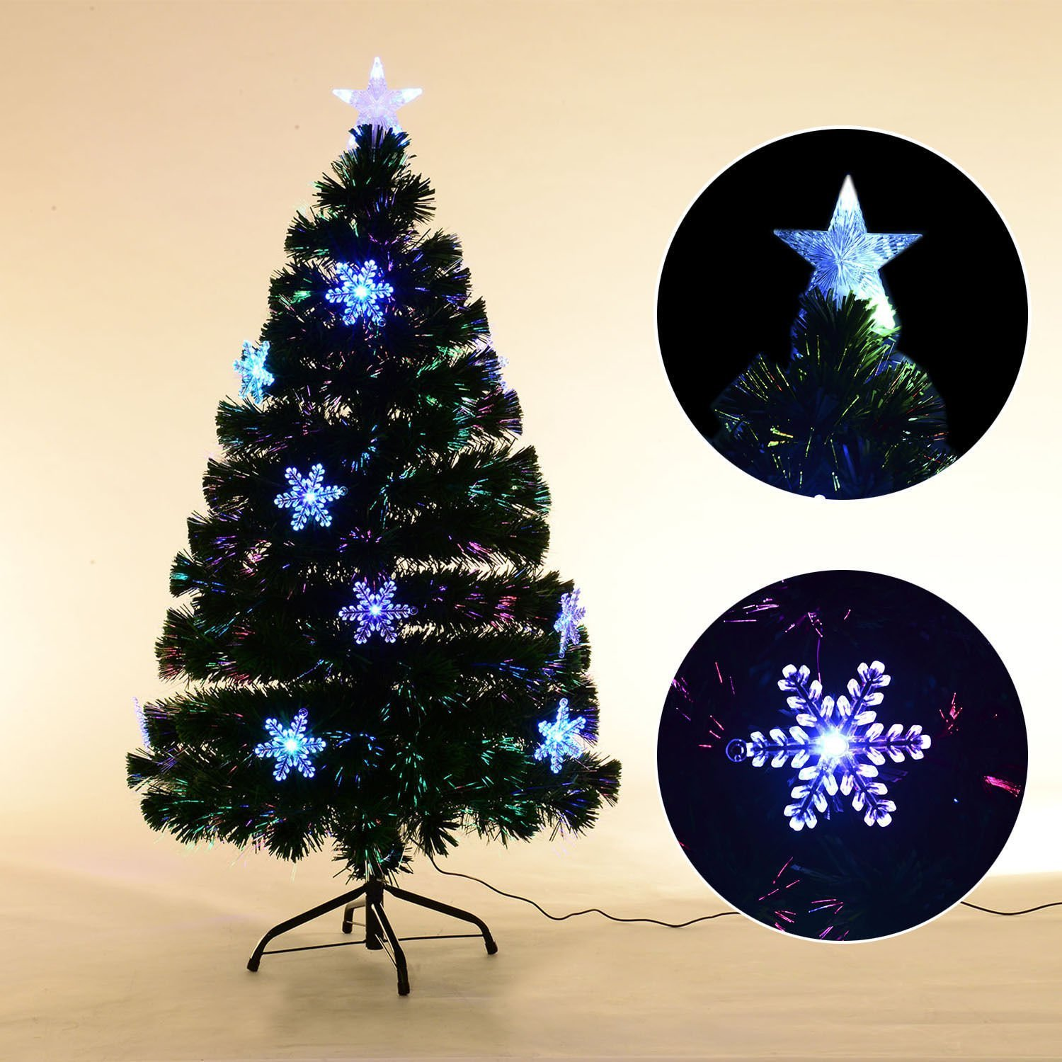get quotations artificial christmas trees 6ft fiber optic tree artificial pre lit - Where To Buy Cheap Christmas Tree