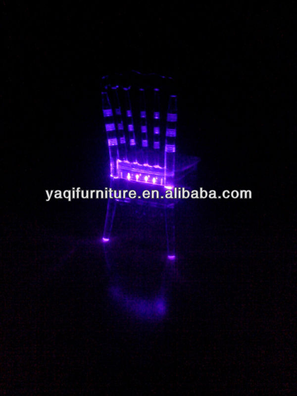 LED Light Bamboo Joint Chair