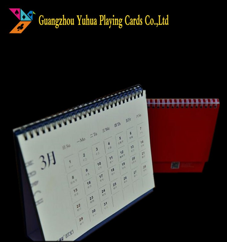 Offset Printing New Design Spiral Binding Paper Table Calendars YH1036