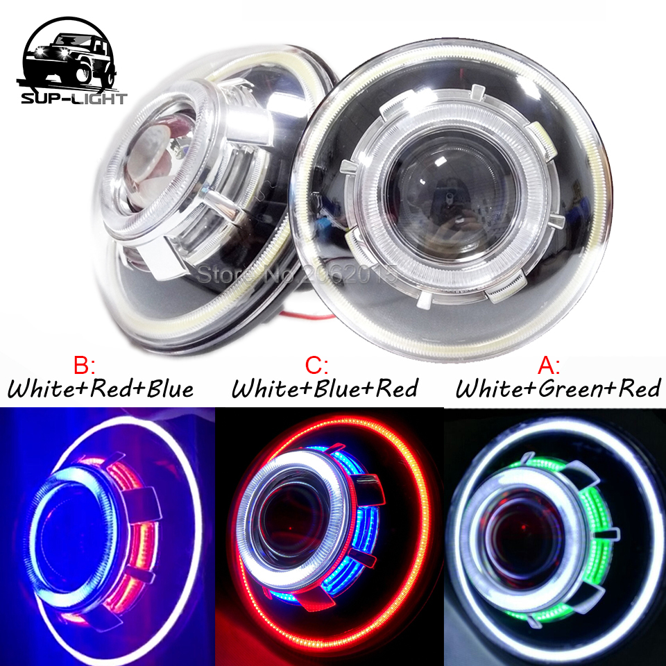 12v 35w 7 Inch Cob Halo Hid Xenon Headlight Sealed Beam