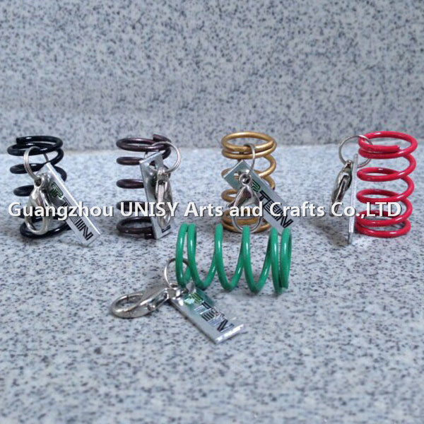 Wholesale customized Coilover Spring tuning keychain keyring /Tein spring key chains