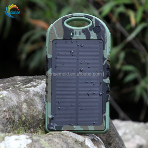5000mAh Portable Solar Power Bank Waterproof Shockproof Dustproof Battery Charger