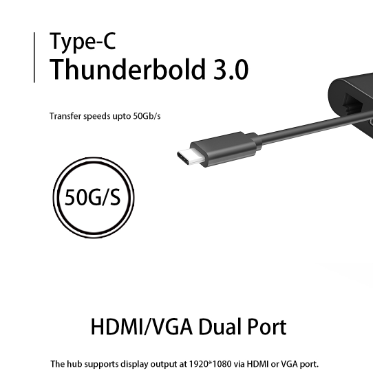 Meegopad New Product V5 Type C Hub usb type-c adapter with 1000M Ethernet port