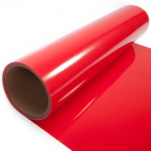 Best Factory wholesale Cost Red PU Heat Transfer Vinyl Film For Tshirts