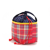 Top grade cheapest various design plaid portable drawstring ice cooler bag for kids