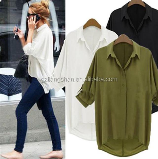 955dcee34c2 2016 New ladies western blouse women loose casual shirt white lapel plus  size ladies western blouse