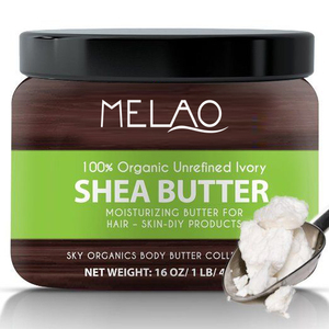 MELAO raw African Organic Grade A Ivory pure Shea Butter for Natural Skin Care, Hair Care Shea Butter 16 oz factory