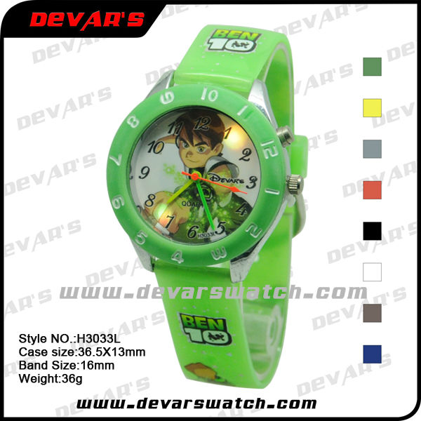 2013 kids led watches japanese electronic products nice quartz watch H3033L