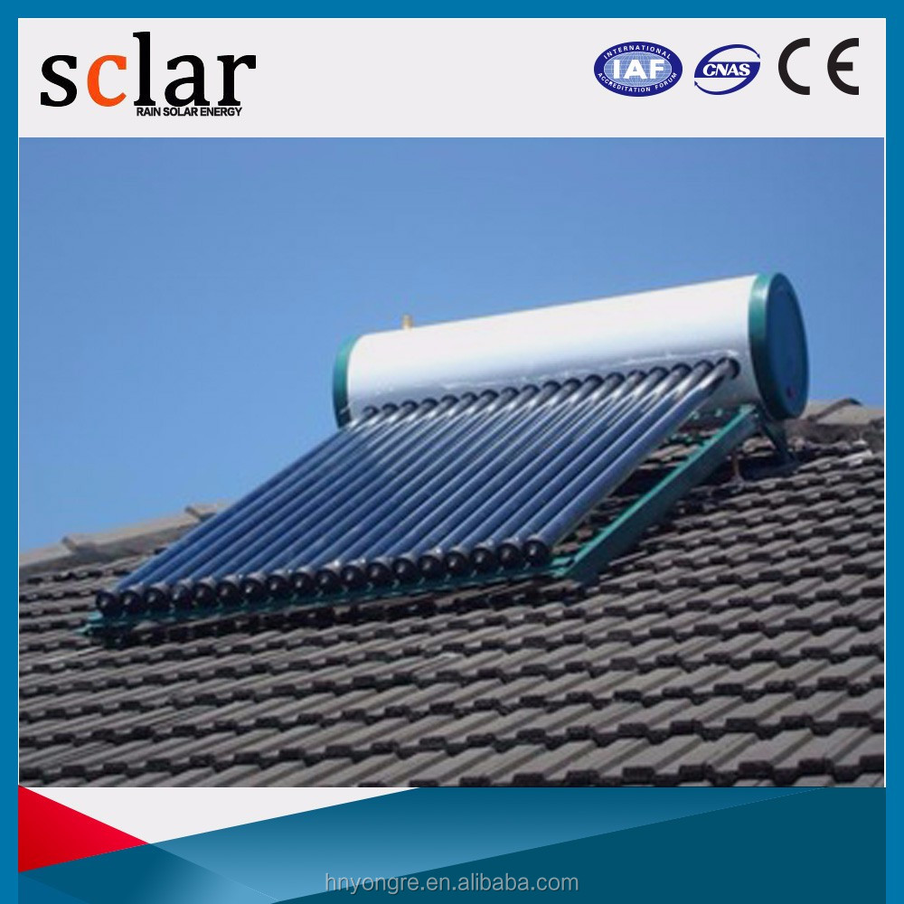 Pressurized 200Liters heat pipe solar water heater