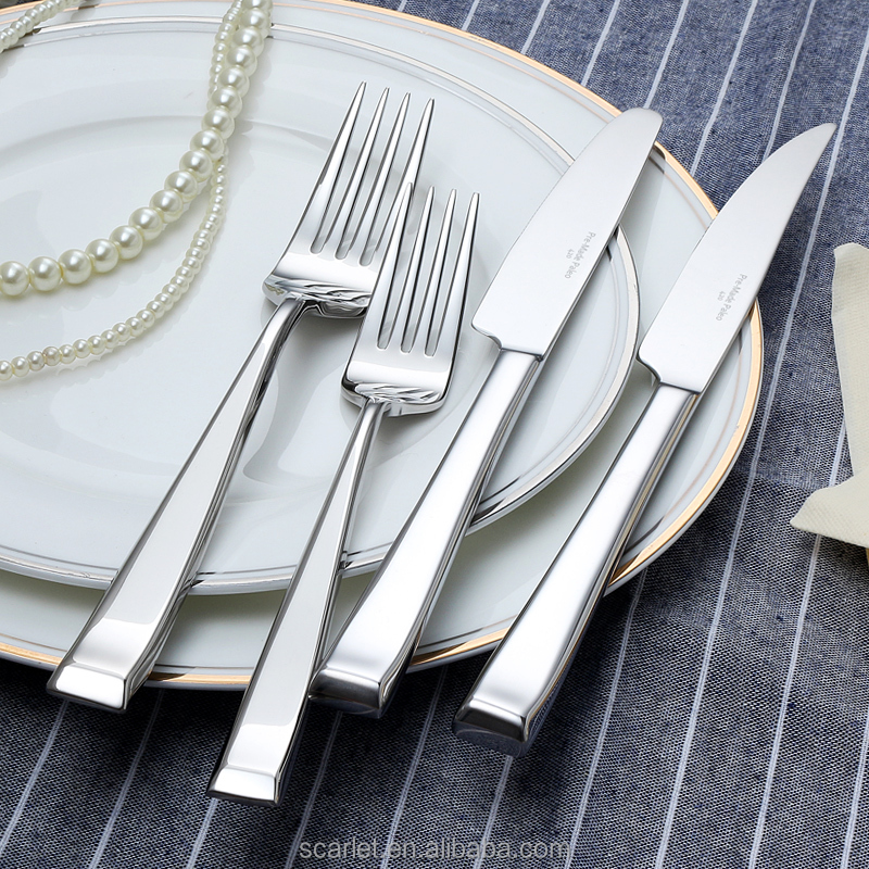 High-grade stainless steel knife and fork suit/Western Stainless Steel food knife and fork cutlery knife sets