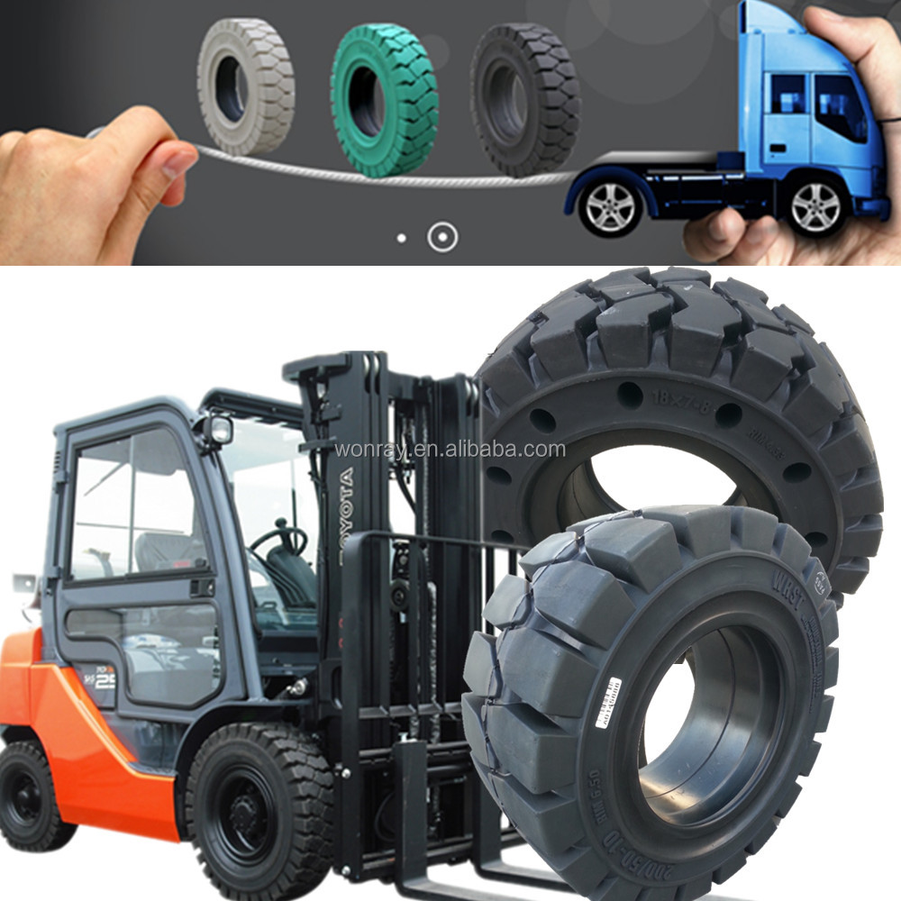 solid tires 16x6-8 18x7-8 5.00-8 toyota electric forklift truck spare parts trade in Cambodia