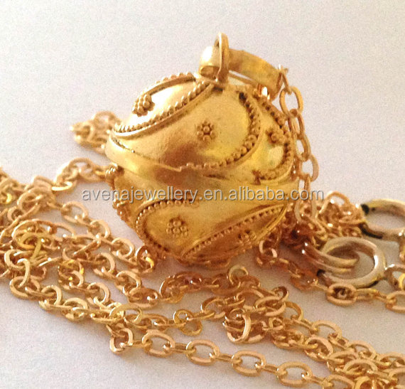 AA01 Antique Styles Mexican Bola Ball Gold Pregnancy Gift Bola Angel Bell Caller Angels 2016 New