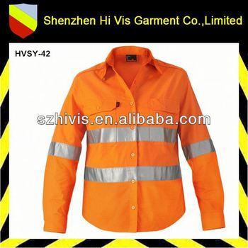 Hi vis cotton wholesale men custom mechanic work shirts for Custom work shirts cheap