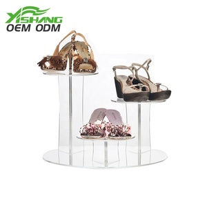 Modern clear acrylic shoe display stand organizer/cabinet/box
