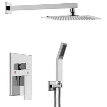10 Luxury Rain Mixer Shower Set Wall Mounted Rainfall Shower Head System Buy Rain Shower Set Wall Mounted Shower Set Shower Mixer Set Product On