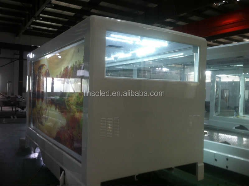 LED Light Box Poster Truck, Traditional Billboard Advertising Van for Outdoor Advertising Road Show
