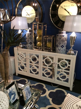 Antique Buffet Living Room Wall Cabinets Furniture With Mirror Hot