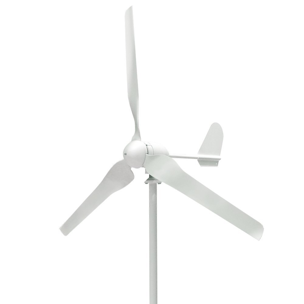 Wind Generator, Vogvigo Wind Generator 300W-500W DC 12V/24V Wind Turbine High Efficiency Wind Turbine Generator Kit 3 Blades Wind Energy 3 Phase Hyacinth