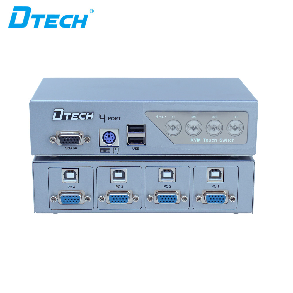 トップ品質4ポート半自動kvmスイッチャー4入力1出力usb2.0用のノートブックコンピュータ、dvdプレーヤー
