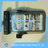OEM Simple Design 5 inch Mobile Phone Case PVC Waterproof Bag with Armband for Swimming