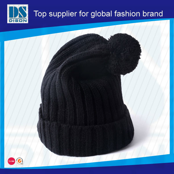Custom White Background Label Pom Beanie Hat/Hotselling Fashion Style Rasta Hat Knitting